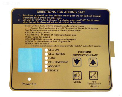 R0404400: CONTROL BOX DECAL BOTTOM R0404400
