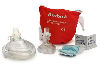 141016: CPR MASK W/O2 INLET&HEAD STRAP 141016