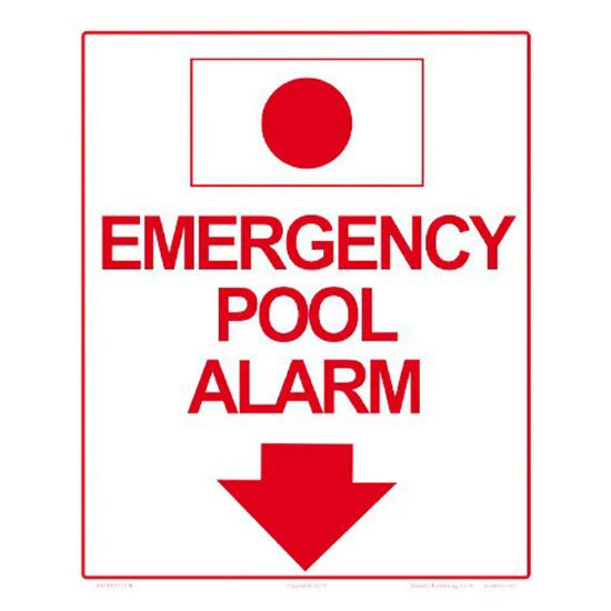 6509WS1012: EMERGENCY ALARM SIGN 6509WS1012