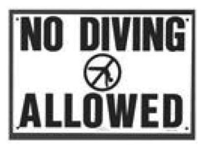 R231200: NO DIVING ALLOWED SIGN R231200