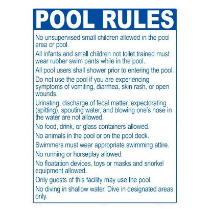 2044WS1824E: POOL RULES ME ONLY 2044WS1824E