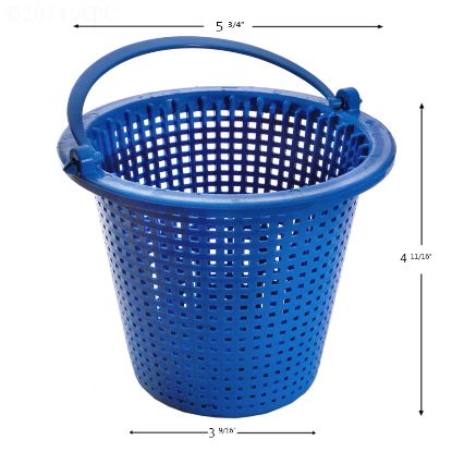 APCB36: PUMP BASKET AQUAFLO / PENTAIR PUREX EASTSIDE TAPERED 072814 POWDER COATED APCB36