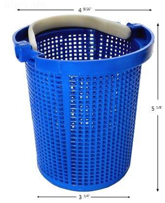 APCB106: PUMP BASKET PENTAIR AMERICAN / STARITE W/ SMALL HOLES 39000600 C10833P POWDER COATED APCB106