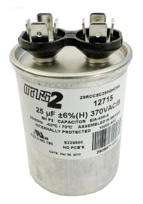 RD25370: RUN CAPACITOR 25 MFD 370VAC RD25370