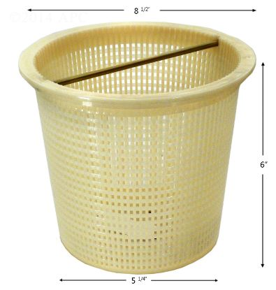 V38125: SKIMMER BASKET PENTAIR / AMERICAN INGROUND ADMIRAL PLASTIC V38125