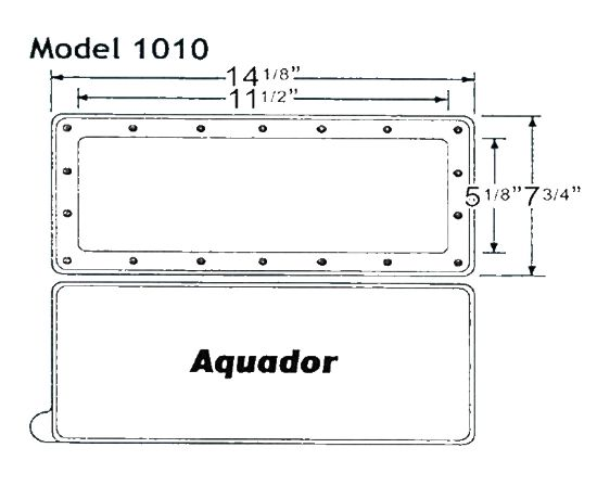 AQ1010: WIDE MOUTH WINTER SKIMMER PLATE AQ1010